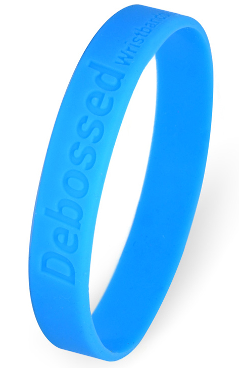Custom Debossed Wristbands