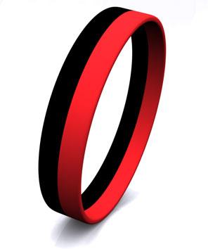 2 Color Stripe Wristbands