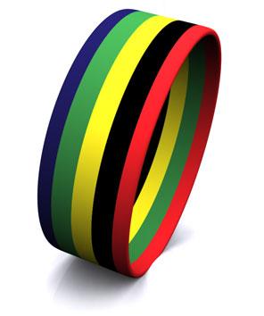 5 Color Stripe Segmented