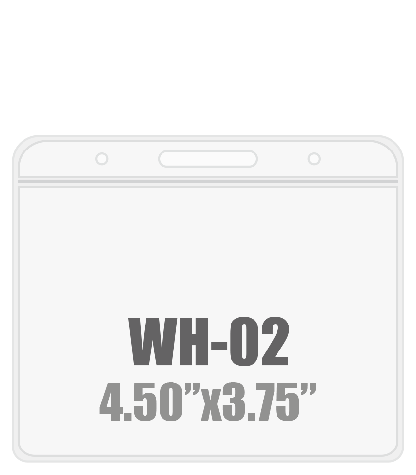 4.5W x 3.75H ( WH-02 ) Badge Holder