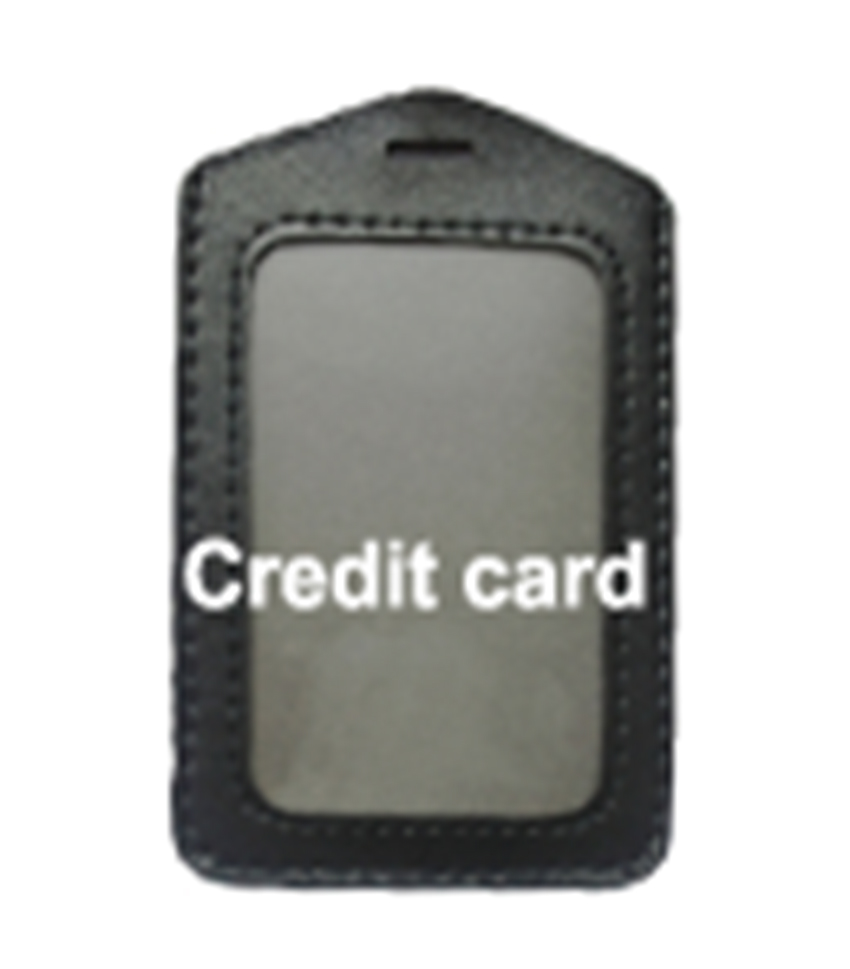 Horizontal Leather Card